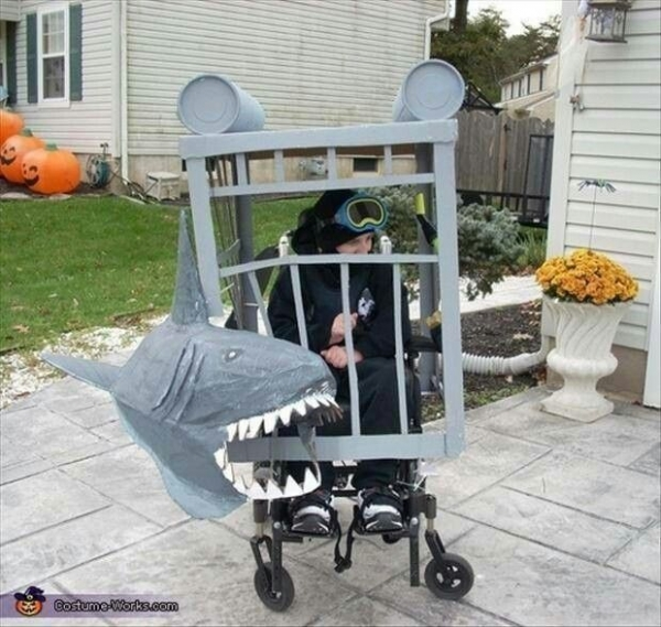 Shark cage diving costume